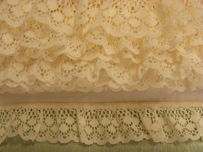 Gathered Lace Cream   6.20 metres  (170)