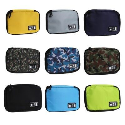 Big Electronic Accessories Storage Bag USB Charger Cable SD Card Organizer Case