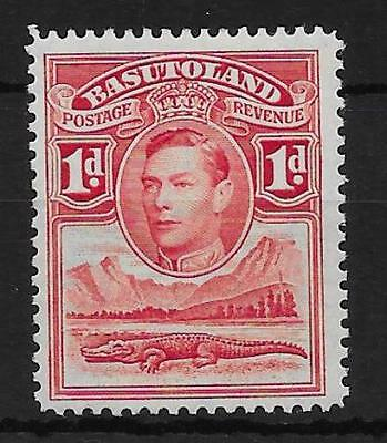 BASUTOLAND SG19a 1938 1d SCARLET TOWER FLAW MTD MINT
