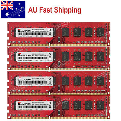 AU 32GB 4x8GB PC3-12800 DDR3-1600Mhz 240pin DIMM AMD AM3 AM3+ Desktop Memory RAM