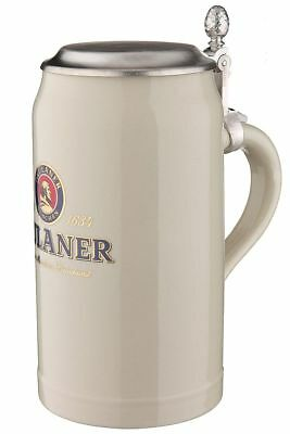 paulaner steinkrug 1 0 liter bierkrug mit paulaner logo. Black Bedroom Furniture Sets. Home Design Ideas