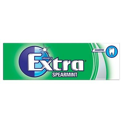 Wrigleys Extra Spearmint Sugarfree 10 Pieces 14g (pack of 30)