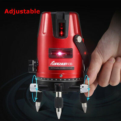 360° Auto Self-Leveling 5 Line 6 Point 4V1H Rotary Laser Level Measure Tool Kit