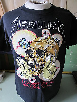 Vintage Metallica The Shortest Straw Pushead 1988 Tour T-Shirt Sportswear
