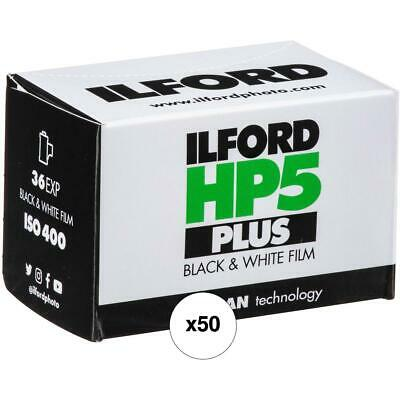 Ilford HP-5 Plus Black and White Film, ISO 400, 35mm, 36 Exposures - 50 Pack