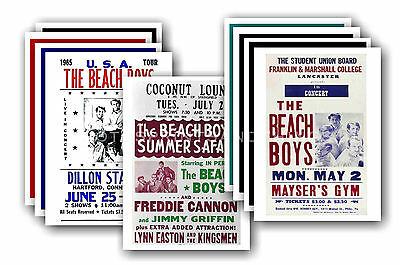 BEACH BOYS  - 10 promotional posters - collectable postcard set # 3