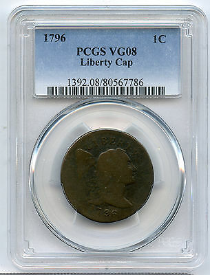 1796 Liberty Cap Flowing Hair Large Cent PCGS VG 08 Very Clear Date