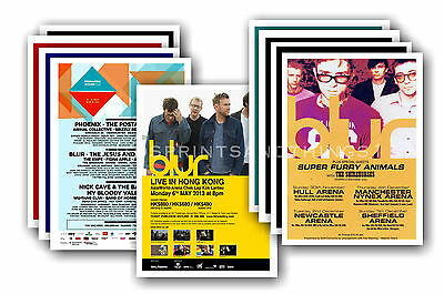 BLUR  - 10 promotional posters - collectable postcard set # 1