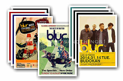 BLUR  - 10 promotional posters - collectable postcard set # 2