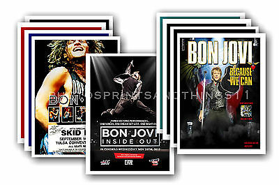 BON JOVI  - 10 promotional posters - collectable postcard set # 1