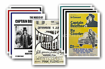 CAPTAIN BEEFHEART  - 10 promotional posters - collectable postcard set # 1