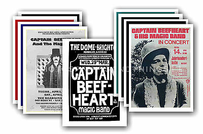CAPTAIN BEEFHEART  - 10 promotional posters - collectable postcard set # 2
