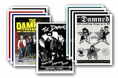 THE DAMNED  - 10 promotional posters - collectable postcard set # 1