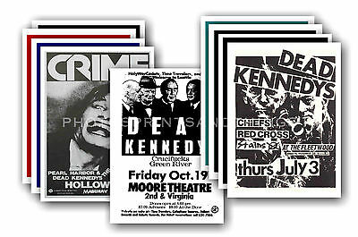 DEAD KENNEDYS  - 10 promotional posters - collectable postcard set # 1
