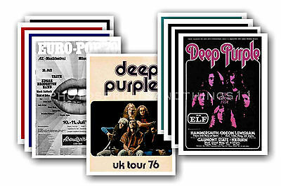 DEEP PURPLE  - 10 promotional posters - collectable postcard set # 2