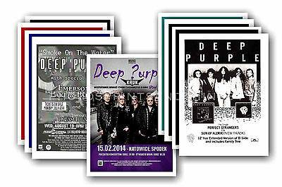 DEEP PURPLE  - 10 promotional posters - collectable postcard set # 3