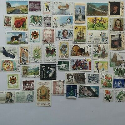 50 Different Moldova Stamp Collection