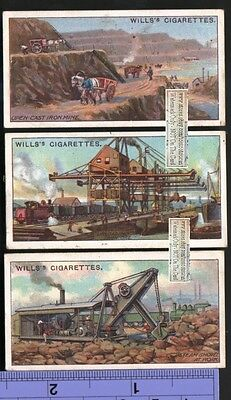 Iron Ore Mining In US and Urals Russia Three 100+ Y/O Trade Ad Cards
