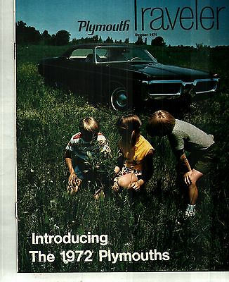 1972 Plymouth Intro Issue Of Plymouth Traveler Magazine - Gray Sales