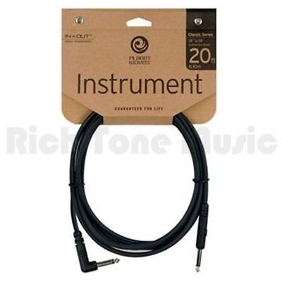 Planet Waves PW-CGTRA-20 Classic Series 1/4 inch Instrument Cable Right Angle