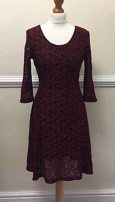 Joe Browns New Lace Effect Stunning Party Dress - Size 12