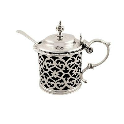 Antique Early Victorian Sterling Silver Mustard Pot - 1856