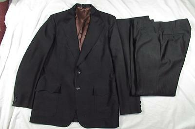 Vtg 60s 70s 2 Pc H Bar C Polyester Western Suit Rockabilly Jacket & Pants Nice!