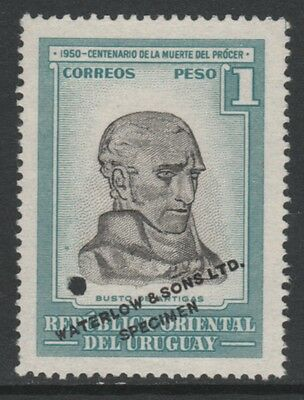 Uruguay 4871 - 1952 Death Centenary of ARTIGAS 1p PRINTER's SAMPLE