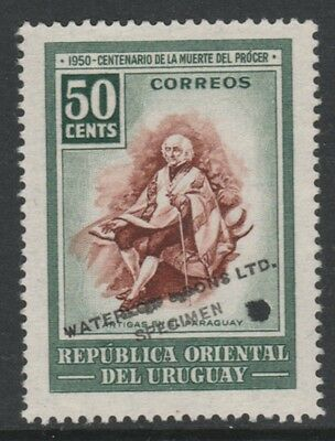 Uruguay 4872 - 1952 Death Centenary of ARTIGAS 50c PRINTER's SAMPLE