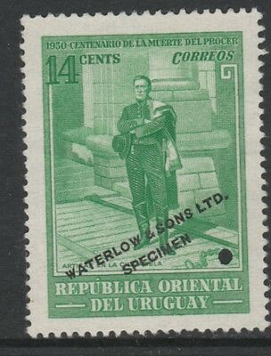 Uruguay 4874 - 1952 Death Centenary of ARTIGAS 14c PRINTER's SAMPLE
