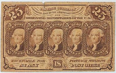1863 25 Cents US Postage Currency Fr#1281 Item#M114