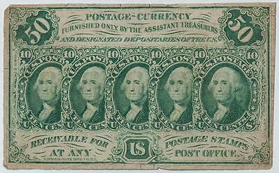 1862 50 Cents US Postage Currency Fr#1312 Item#M119