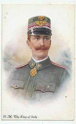 Cpa Pk Ak Italie Italy H.m.the King Of Italy