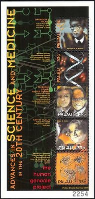 Palau 2000 Nobel Prize/Genome/DNA Helix/Science/Scientists/Frogs 5v m/s n39183ea