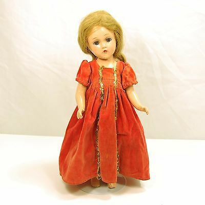 Beautiful 1940 MME Alexander composition, tgd Madame Alexander, Wendy face doll