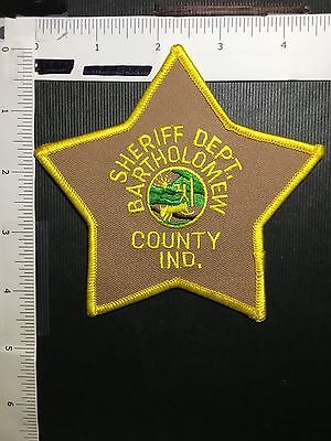 Bartholomew County Indiana  Sheriff  Shoulder  Patch