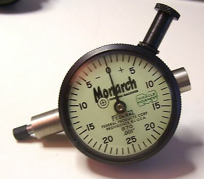 VINTAGE MONARCH LATHES FEDERAL DIAL INDICATOR MIRACLE MOVEMENT B70 .001 b