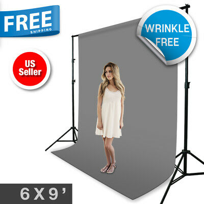 6x9ft Gray Muslin Backdrop Photography Background Photo Studio Wrinkle Free