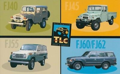 1998 Toyota FJ40 FJ55 FJ45 FJ60 FJ62 ORIGINAL Large Factory Postcard my2286