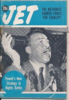 JET MAGAZINE 5/14/1964 ADAM POWELL NEW STRATEGY IN RIGHTS BATTLE Church EQUALITY