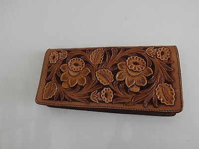 Tooled Leather Checkbook Cover EXCELLENT Quality