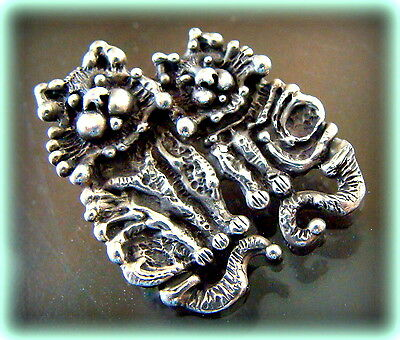 STERLING Kitty CAT Kittens Pendant Jewelry - STOINOFF Design - One of a Kind