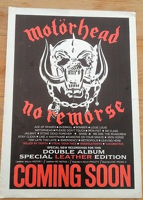 MOTORHEAD No Remorse 1984 magazine ADVERT / Poster 11x8 inches
