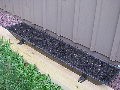 "ANTIQUE CAST IRON HOG TROUGH 54"" Long"