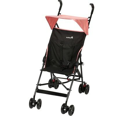 S#Safety 1st Baby Toddler Pushchair Buggy w/ Canopy Peps Black and Pink 11823260