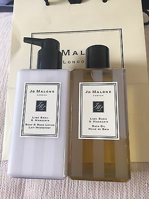 Jo Malone Lime Mandarin & Basil Bath Oil & Body Lotion 250ml Gift Bag
