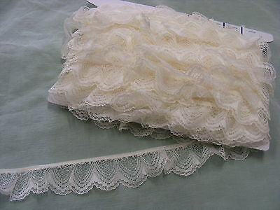 Gathered Lace Cream 5 metres  (251/1)