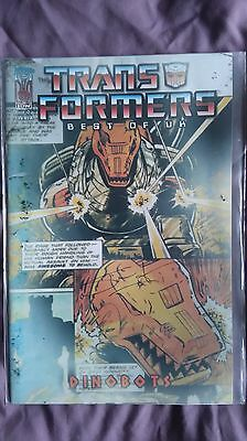 IDW Best of British Transformers issue 2 Signed by Simon Furman - Dinobots!