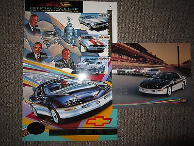 Chevrolet Camaro Indy 500 pace car poster 24x36 PLUS EXTRA POSTER FREE SHIPPING