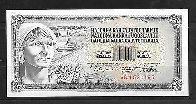 YUGOSLAVIA #92a 1978 UNC 1000 DINARA OLD BANKNOTE PAPER MONEY CURRENCY BILL NOTE